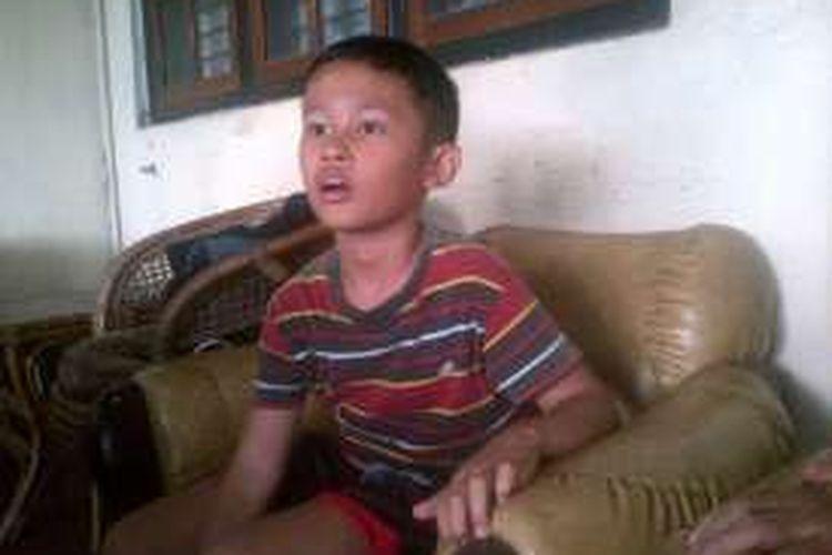 Daffa Farros Oktoviarto, bocah SD yang menghadang laju pengendara motor di trotoar di jalan Sudirman Kota Semarang