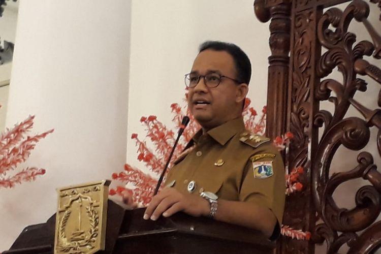Gubernur DKI Jakarta Anies Baswedan di Balai Kota DKI Jakarta, Jalan Medan Merdeka Selatan, Selasa (24/7/2018).