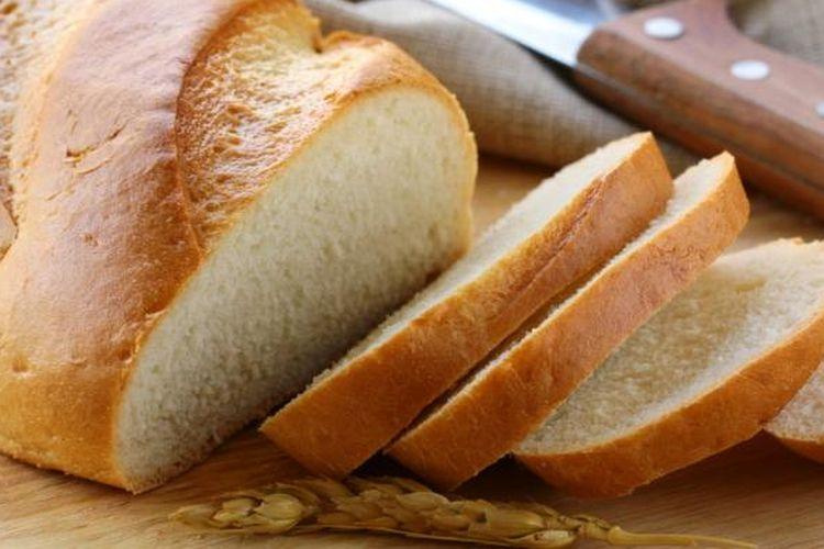 Ilustrasi roti tawar.