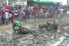 Serunya Balapan Motor Ala Petani, Bawa Gabah 100 Kg hingga Bertanding di Lintasan Berlumpur
