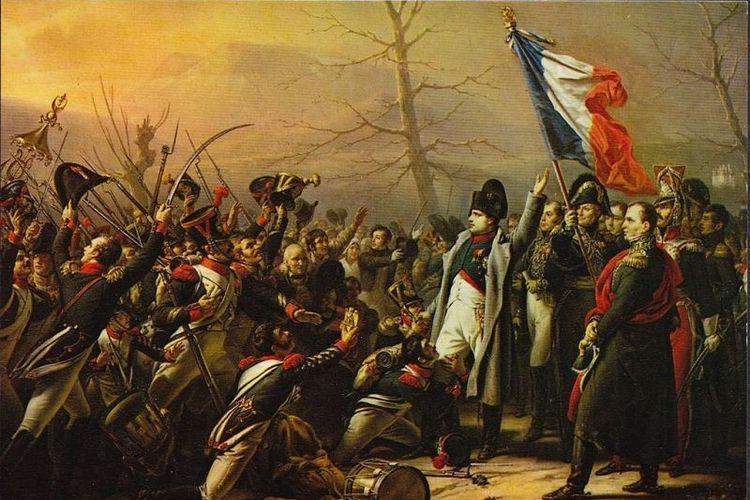 Lukisan karya Karl Stenben ini mengisahkan kembalinya Napoleon Bonaparte dari Pulau Elba tempatnya diasingkan.