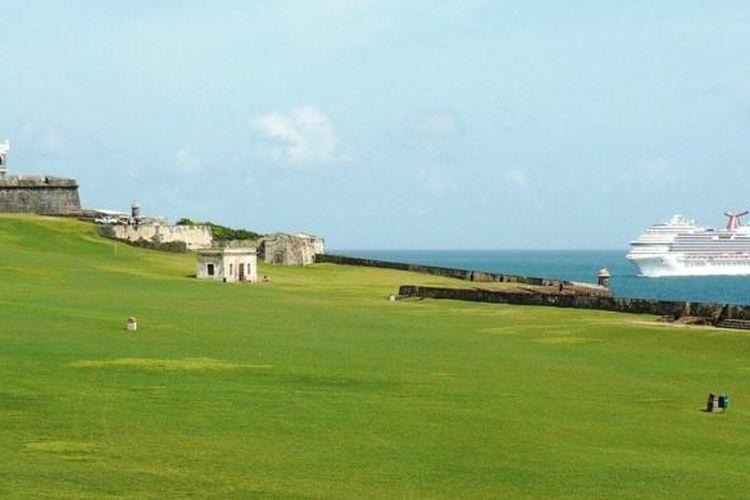 San Juan National Historic, sebuah situs Unesco World Heritage Site, di Puerto Rico.