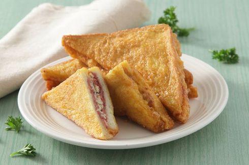 Resep Roti Goreng Kornet Keju, Sarapan Enak Pakai Roti Tawar Sisa