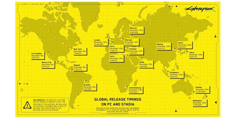 Detail waktu perilisan Cyberpunk 2077 di seluruh dunia.