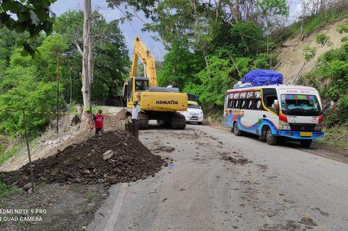 Gerak Cepat BPJN NTT Tangani Jalan Trans-Timor yang Terancam Longsor