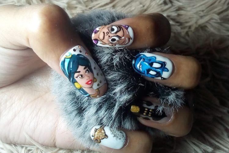 Karya nail art Mona Tirta