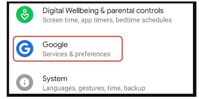 Cara mengubah default akun Google di Android