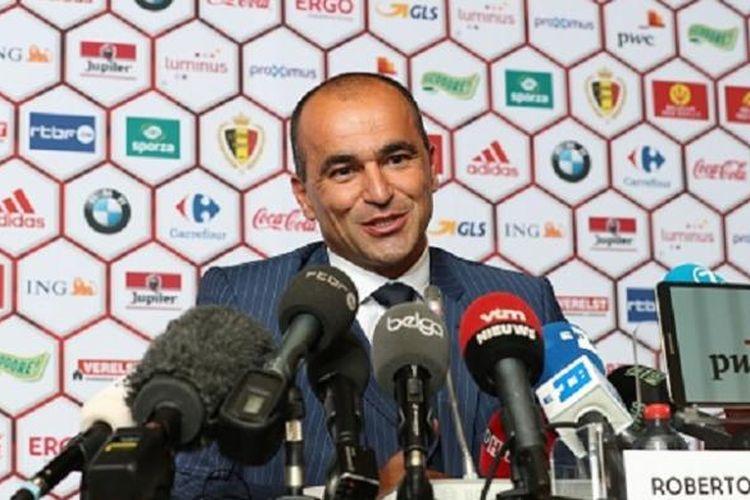 Roberto Martinez diperkenalkan sebagai pelatih baru Belgia, Kamis (4/8/2016).