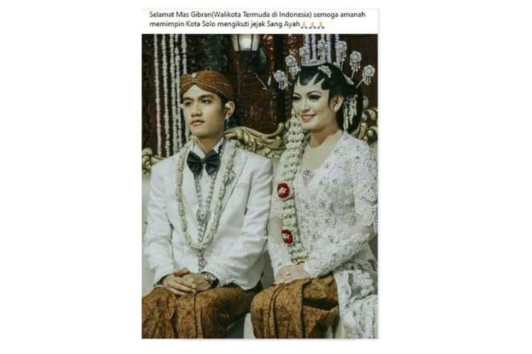 Status Facebook keliru soal Gibran Rakabuming wali kota termuda di Indonesia.