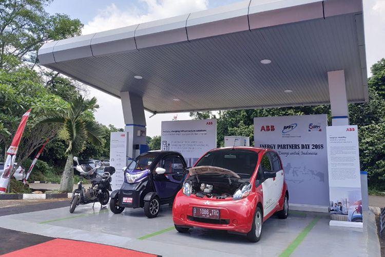 Ilustrasi charging station milik BPPT