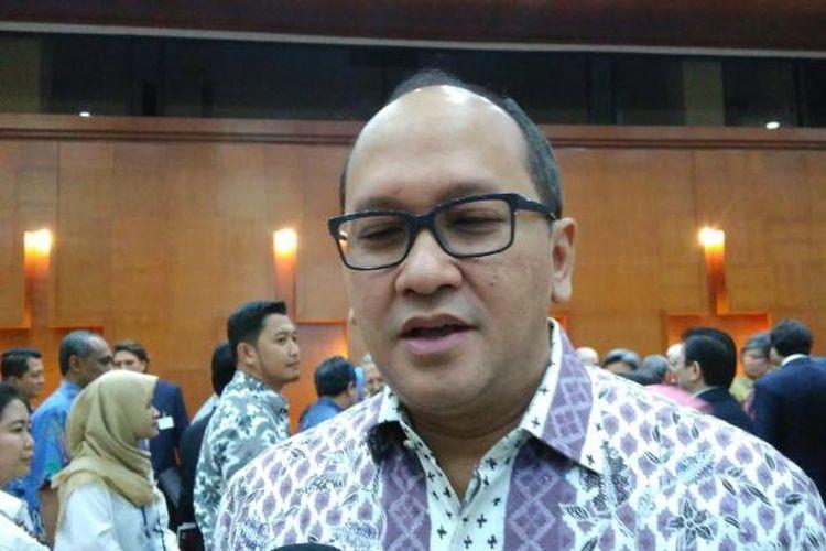 Ketua Kamar Dagang dan Industri (Kadin) Indonesia Rosan P Roeslani di Kemenperin, Jakarta Senin (20/2/2017).