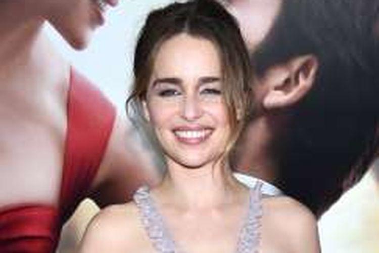 Aktris Emilia Clarke menghadiri pemutaran perdana film Me Before You di AMC Loews Lincoln Square 13, New York City, AS, pada 23 Mei 2016 waktu setempat.