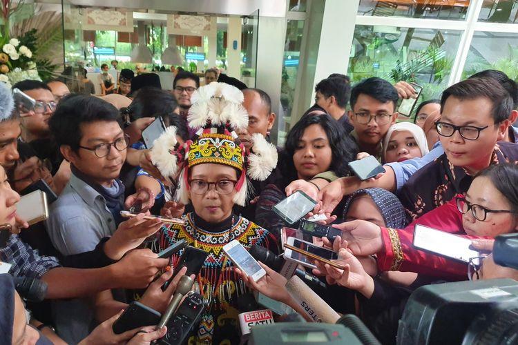 Menteri Luar Negeri Retno Marsudi di Kantor Kemenlu, Jakarta, Rabu (8/1/2020).