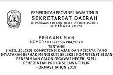 Diumumkan, Hasil SKD CPNS Jawa Timur Bisa Diakses Melalui 3 Link Ini