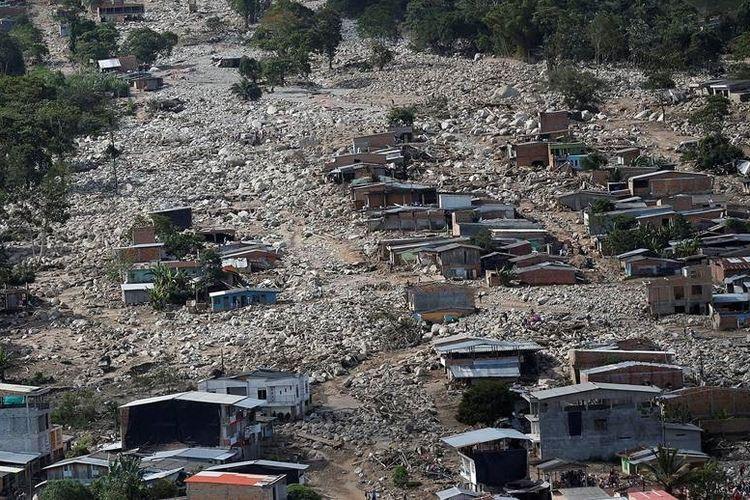 Inilah 7 Bencana Alam Dahsyat Di Dunia Selama 2017 Halaman All Kompas Com