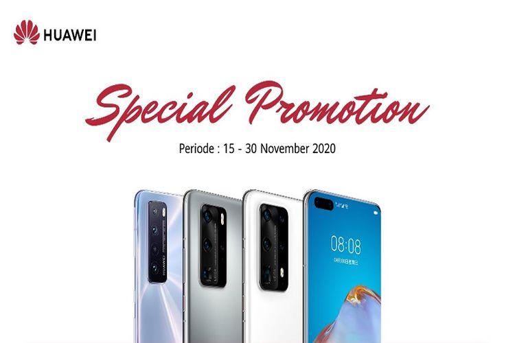Huawei menghadirkan promo spesial mulai dari 15 Oktober hingga 30 November 2020.