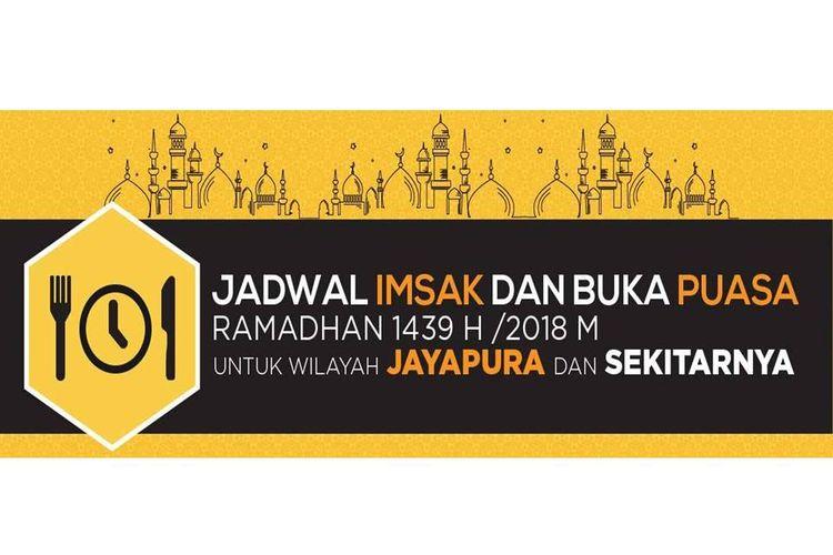 Jadwal imsak dan buka puasa di Jayapura
