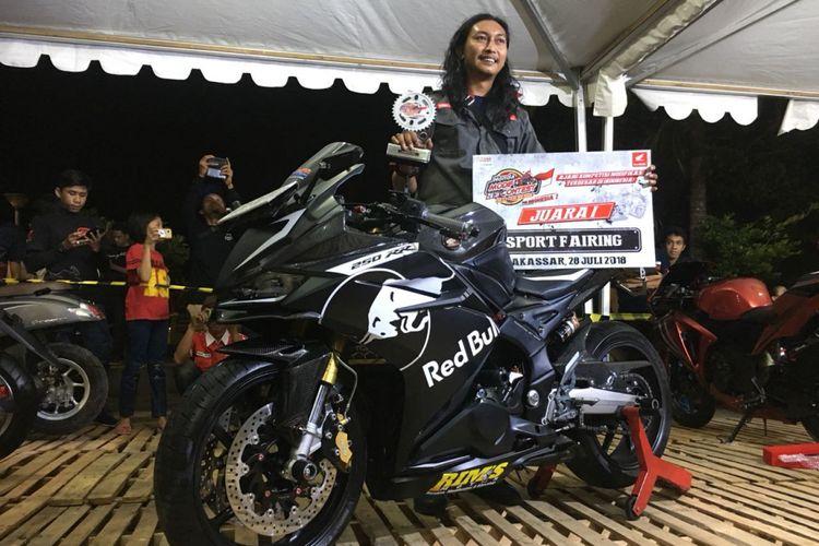 Kategori Sport Fairing, juaranya Muslimin Muchlis, Honda CBR250RR.