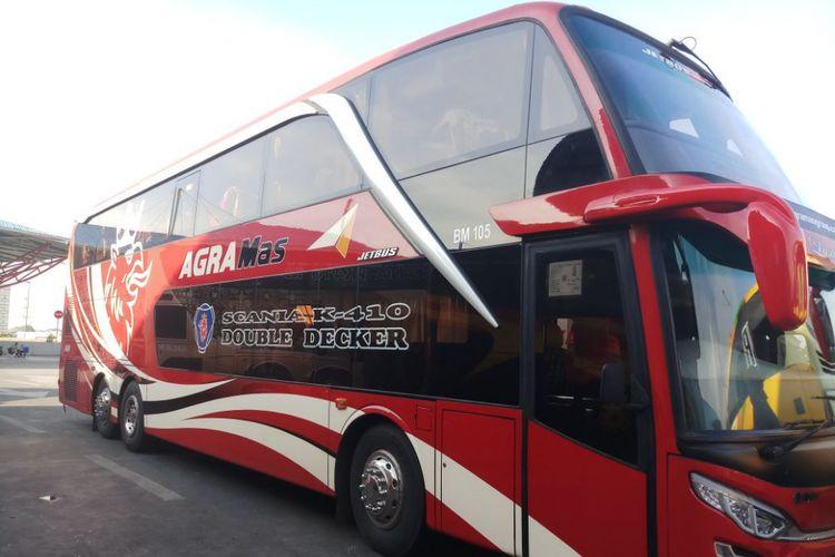 Bus tingkat AKAP milik PO Agra Mas yang dioperasikan melayani rute Jakarta-Jepara.