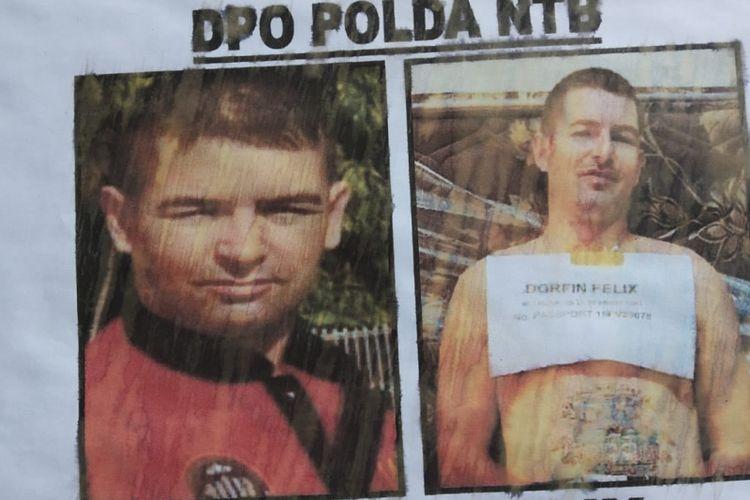 Poster DPO Dorfin Felix telah disebar namun yang bersnagkutan belum berhasil ditangkap.
