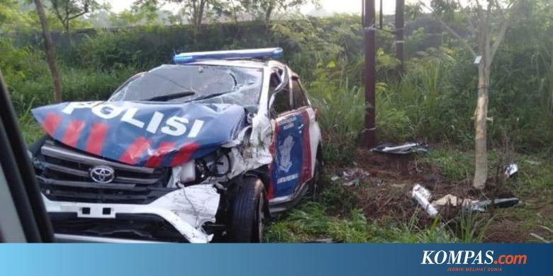 INDX Terlibat Tabrakan Beruntun, Mobil Patroli yang Dikendarai Kasatlantas di Kalsel Ringsek