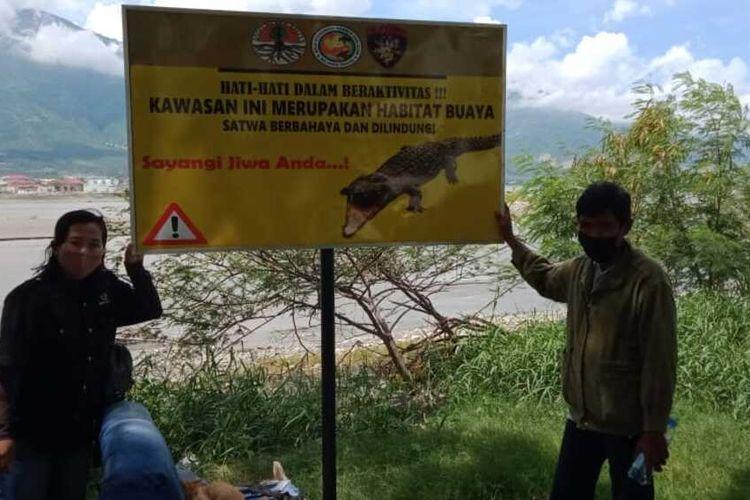 BKSDA Sulteng sudah beberapa kali melakukan sosialisasi kepada masyarakat untuk berhati-hati saat berada di sungai Palu maupun pantai Talise, Minggu (13/12/2020).