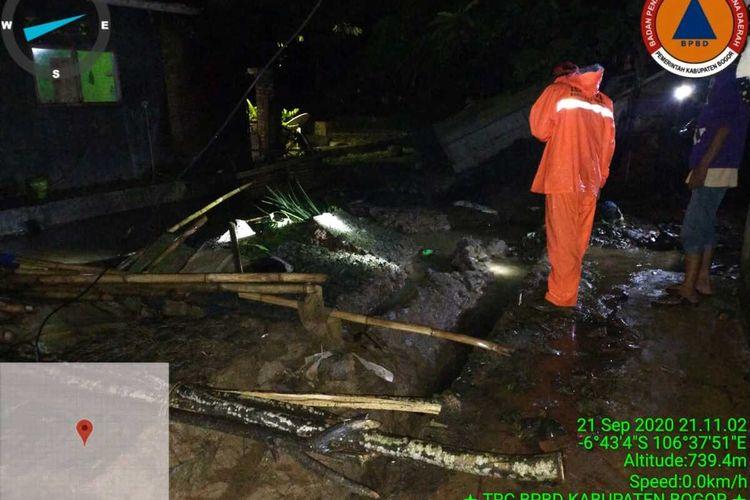 Situasi pasca terjadinya bencana alam di Kabupaten Bogor, Jawa Barat, Selasa (22/9/2020)