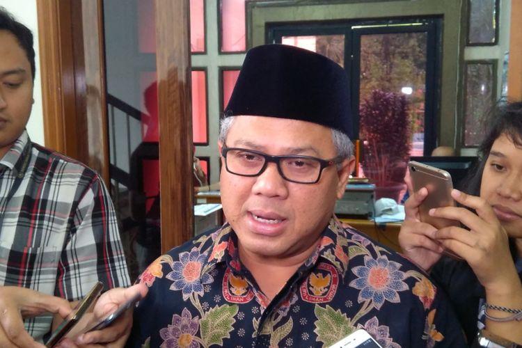 Ketua Komisi Pemilihan Umum RI (KPU) Arief Budiman di kantor KPU RI, Jakarta, Jumat (19/1/2018).