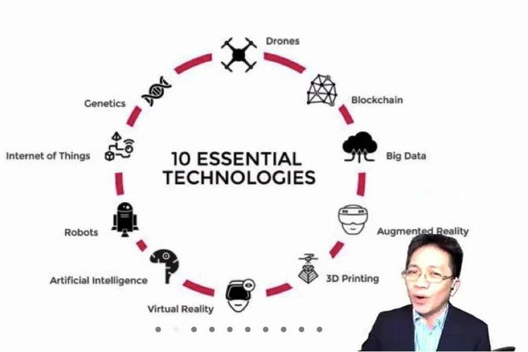 Toronata Tambun saat menyampaikan materi mengenai 10 essential technologies pada Fellowship Jurnalisme Pendidikan 2021 Angkatan ke-2 secara daring, Selasa (27/7/2021).
