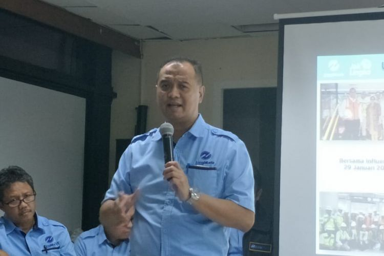 Direktur Utama PT Transjakarta Agung Wicaksono di Balai Kota DKI Jakarta, Jakarta Pusat, Senin (18/2/2019).
