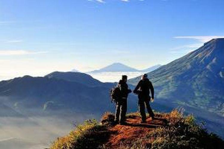 Bukit Sikunir Dieng di Jawa Tengah.