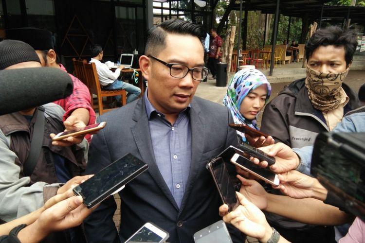 Wali Kota Bandung Ridwan Kamil saat ditemui di Banyu Leisure Park, Jalan Ciungwanara, Senin (30/10/2017).