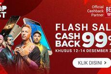 Harbolnas: Cashback 99% Untuk Pembelian Tiket Coldplay, Musik Online, Smartphone, Gadget, dan Lainnya