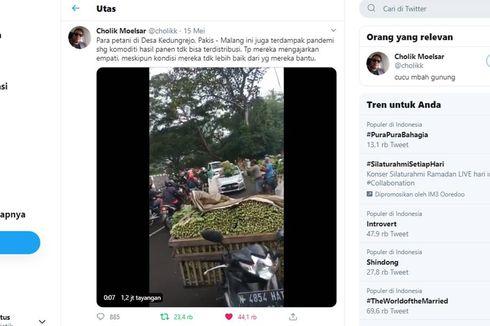 Viral Video Pedagang Membagikan Sayuran Gratis di Jalan, Ini Faktanya