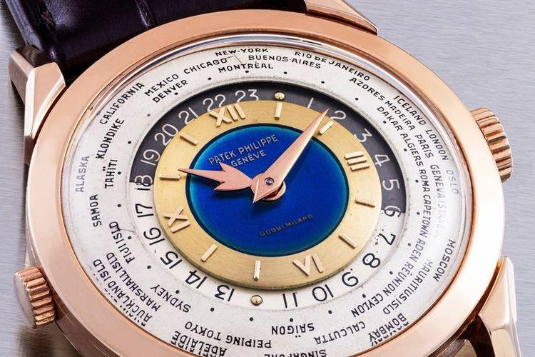 Jam tangan emas merah jambu 18 karat Patek Philippe.