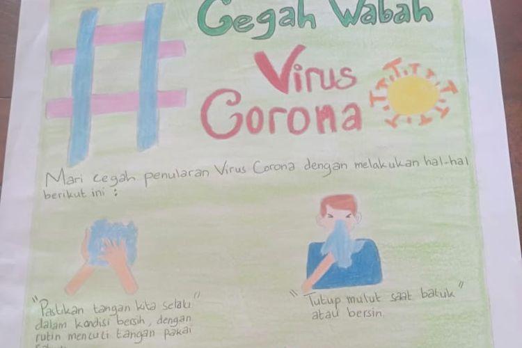 Tak Ikut Panik Hadapi Virus Corona Para Siswa Sd Ini Buat Empon Empon Hingga Poster Halaman All Kompas Com