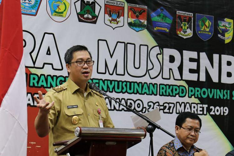 Wakil Gubernur Sulawesi Utara (Sulut) Steven Kandouw mengingatkan 7 prioritas pembangunan Sulut kepada seluruh peserta kegiatan Pra Musrenbang RKPD Provinsi Sulut Tahun 2020 di Manado, Selasa (26/3/2019) siang.