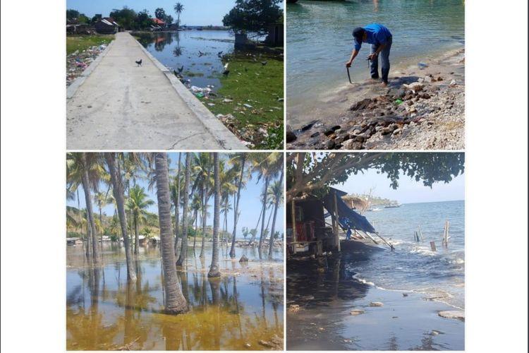 Kondisi Teluk Nara, Lombok saat tim dari LIPI/PuSGeN, PBBT, IATsI melakukan survei