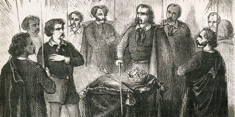 Illustration de l'initiation à l'Illumination.  [Par l'historique]