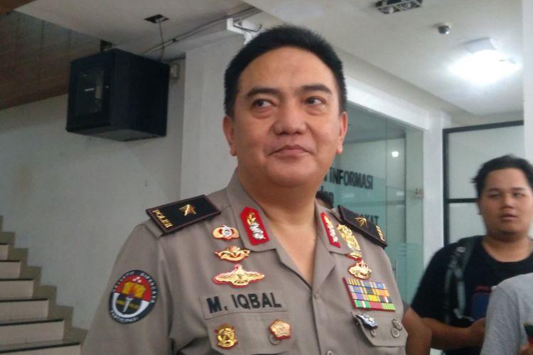 Kepala Biro Penerangan Masyarakat Divisi Humas Polri Muhammad Iqbal di Jakarta, Senin (1/1/2018). Malam pergantian tahun baru 2017-2018 berlangsung aman, lancar, dan kondusif.