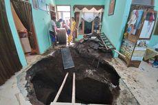 Lantai Rumahnya Tiba-tiba Ambles dan Berlubang Besar, Supadiyo: 16 Tahun Ditempati Baru Ada Kejadian Ini