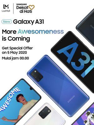 Poster campaign Galaxy A31 di Lazada.