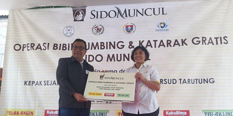 Sido Muncul menggelar operasi bibir sumbing di Sumut dengan dua lokasi yang berbeda, yakni RSUD Dolok Sanggul dan RSUD Tarutung pada Rabu (24/7/2019).