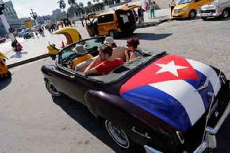 Suasana perkotaan di Kuba.