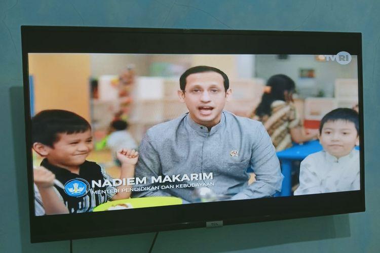 Tangkapan layar Belajar dari Rumah di TVRI