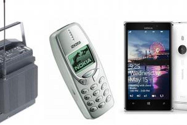 Beberapa ponsel Nokia yang ada di Nokia Museum