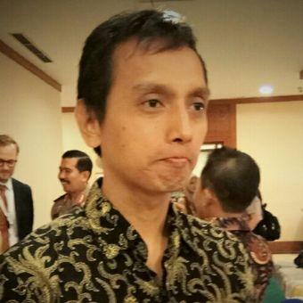 """Direktur Imparsial, Al Araf ditemui disela acara Pembukaan Workshop Peran Polri dalam Melindungi Kebebasan Beragama dan Berkeyakinan di Wilayah Hukum Polda Metro Jaya dan Polda Banten"""" yang digelar di Hotel Grand Sahid Jaya, Jakarta, Senin (28/8/2017)."""