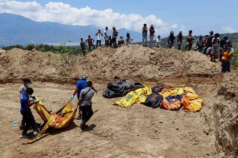 153 Jenazah Korban Gempa dan Tsunami Dimakamkan Massal di Palu