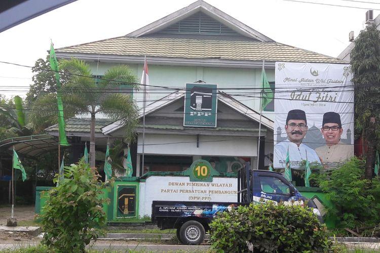 Kantor DPW PPP Sultra di kelurahan Korumba, Kendari yang dibangun oleh Habil Marati
