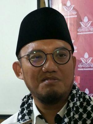 Anggota tim kuasa hukumNovel Baswedan, Dahnil AnzarSimanjuntak di Gedung Pusat Dakwah Muhammadiyah, Menteng, Jakarta, Rabu (27/12/2017).